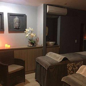 Nuestra cabina de parejas para disfrutar un momento único de relajación con tu ser querido.