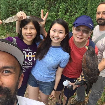 Lobagola Tours Private falconry tour with dear guests from Singapore in Medvednica nature park.