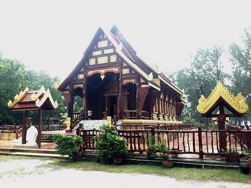 Wooden temple on the beach