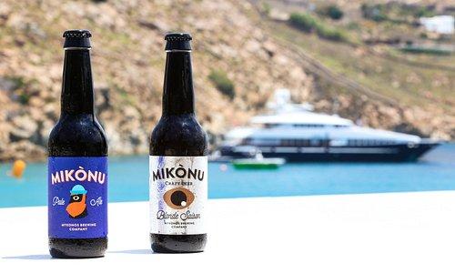 Brewed and bottled in Mykonos, GR