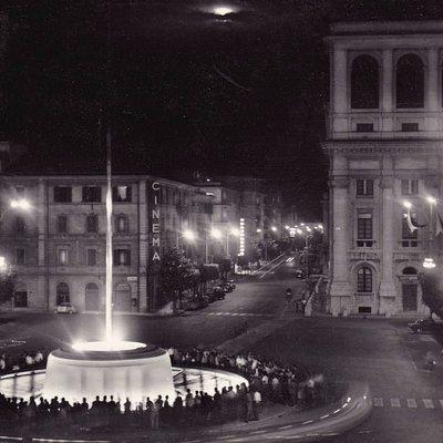 Piazza Tacito in una cartolina degli anni '60