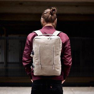 Handmade leather goods. Backpacks