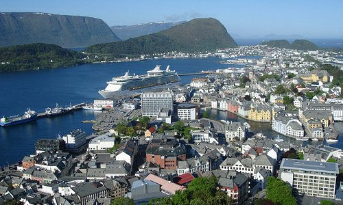 View of Aalesund Harbor
