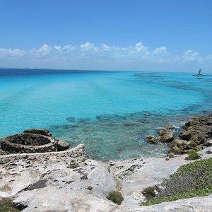 Vista dal parco panoramico di Punta Sur a Isla Mujeres ai Confini dei Caraibi