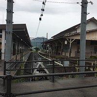 長野電鉄、終着駅の湯田中駅です