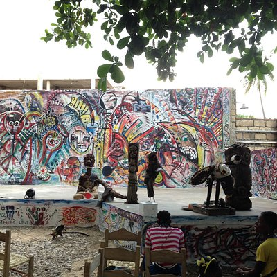 Backyard stage at Jacmel Arts Center