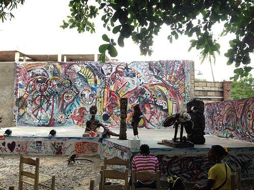 Backyard stage at Jacmel Arts Center
