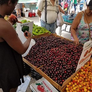 The cherries are in season and looking wonderful!