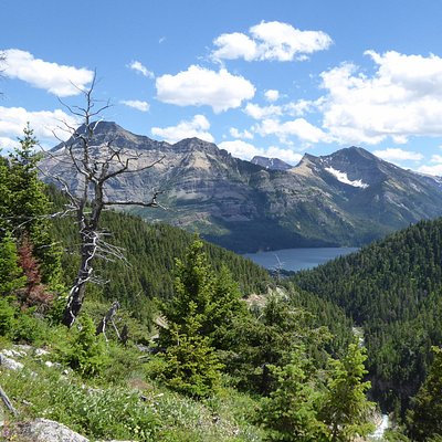 A glimpse of Waterton Lake