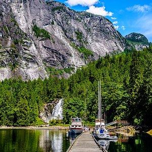 Beautiful Chatter Box Falls at the tip of Princess Louisa Inlet