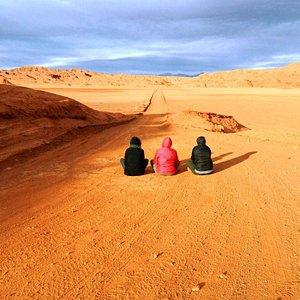 Atardecer en el Desierto del Diablo