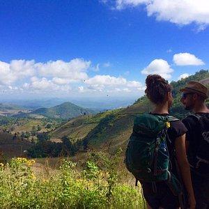 Travelers viewing Shan Hills