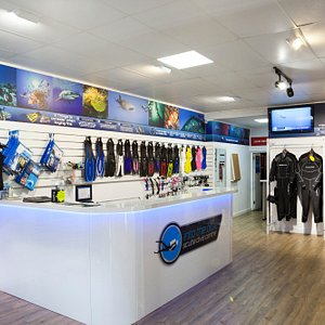 Into the Blue Shop. We stock a full compliment of dive gear