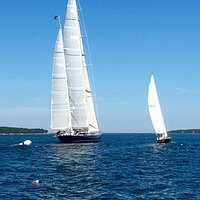 Watch a racing on the way out to the Cranberry Islands