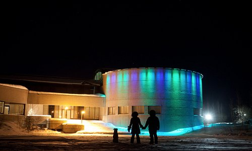 External view of lighting system during Winter