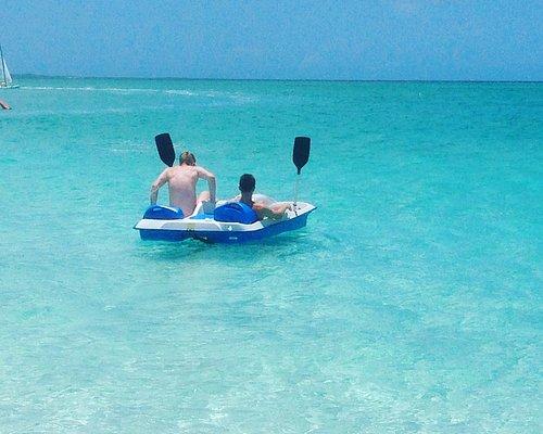 Happy customers enjoying the beautiful waters of Grace Bay!