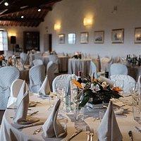 Sala Olivaia apparecchiata per il pranzo (foto: Carlotta Nucci)