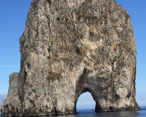 Part of the Faraglioni Rocks.