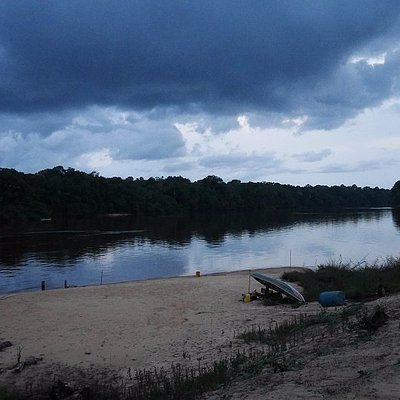view from the lodge, Essequibo river is pure silence