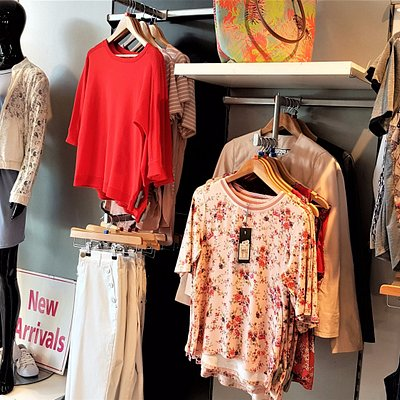 Ladies fashion upstairs in the Strand House. It stocks a wide range of high end brands!