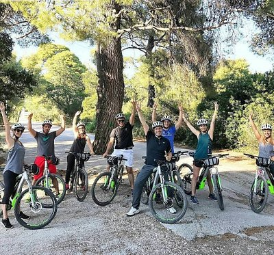 "Team building for ""Holmes Place - Health Club"" at Syggrou Grove in Athens (tailor made e-bike to"