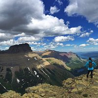 Great Continental Divide View from summit of Swiftcurrent Mt.