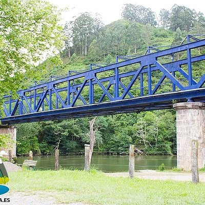 Nos encontramos justo al final del Recorrido en el Puente Azul del Ferrocarril