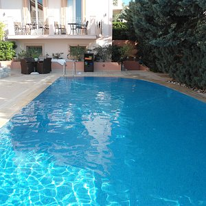 Lovely pool with towels available.