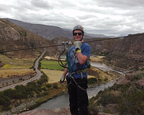 EXPERIENCE THE EXTREME ADVENTURE IN THE COLCA CANYON OVER THE COLCA RIVER AND THE AMAZING LANDSC
