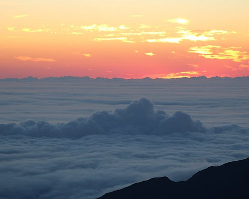Haleakala at sunrise was incredible. Yes, those are clouds!