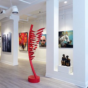 A view of Galerie Blanche main exhibition room. Montreal Art Gallery.