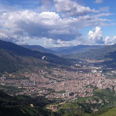 Paragliding tours offer incredible views of the city of Medellin and the Aburra Valley.