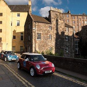 Part of our tour through Edinburgh's Dean Village