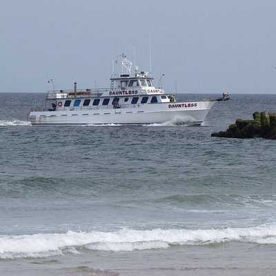 This is the amazing Dauntless heading to the dock after a great day of fishing.