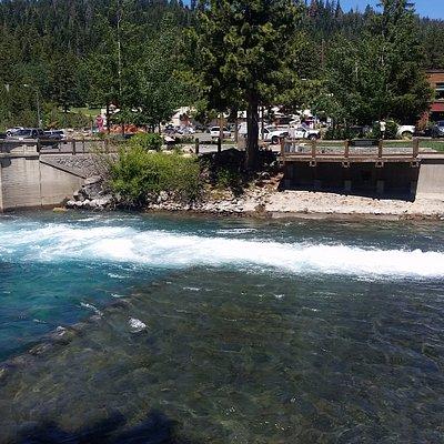 Lake Tahoe Dam in Tahoe City, California
