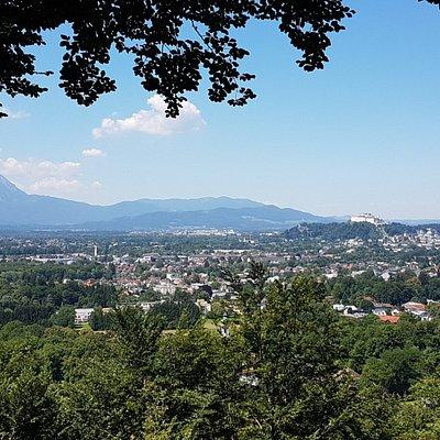 Aussicht auf Salzburg von der Kanzel