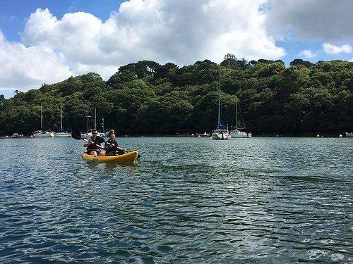 Kayaking along the Helford River