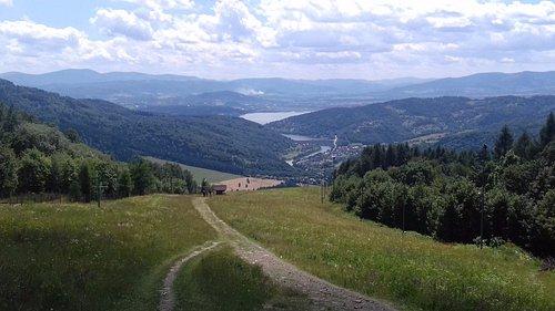 Widok ze szczytu Góry Żar