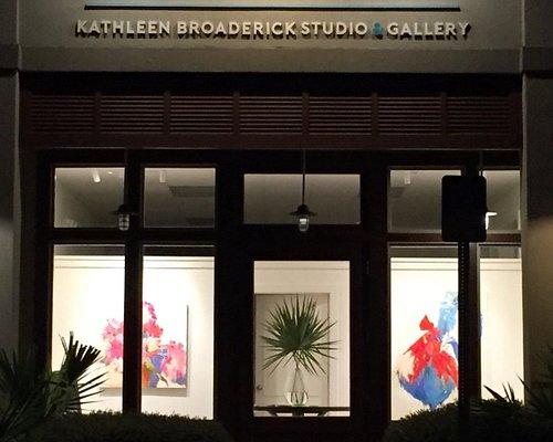 CHROMA studio & gallery at night.