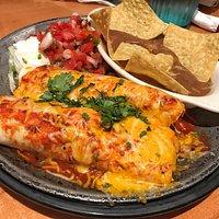 Egg and chorizo enchiladas
