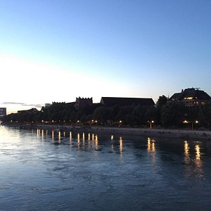 Great view on the river Rhein