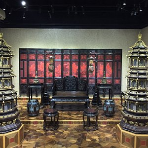 Beautiful interior display of historic Chinese furniture
