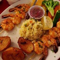 Crevettes grillées Grilled shrimp