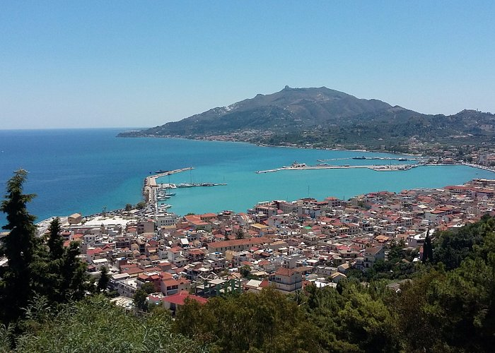 Panoramic View Of Zakynthos Town and Harbour