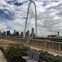 Downtown Dallas from Ronald Kirk pedestrian bridge
