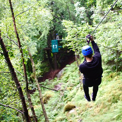 One of our 23 zip-lines. From 10 - 300 meters long
