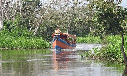 Public boat in Papaturro River