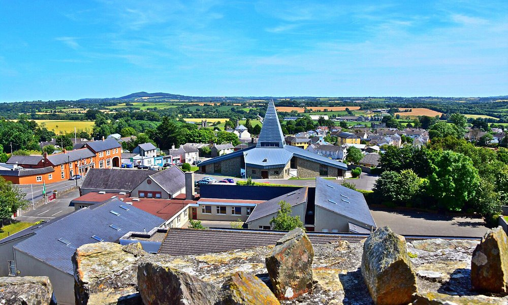 View from the top of Ferns Castle