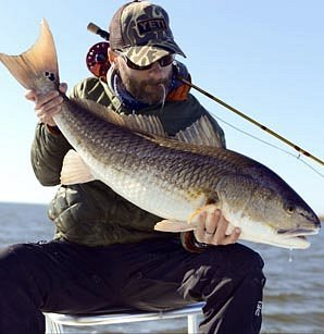 Louisiana Redfish Guided by Patrick Tarpey of Slow and Low Coastal Outfitters