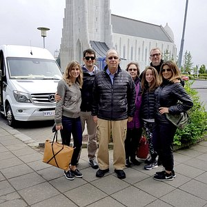 City tour by bus with a wonderful family.